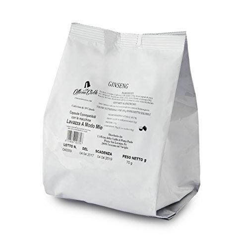 ODC Capsule compatibili con macchina da caffè sistema Lavazza A modo Mio kit formato da 100 cialde solubile al Ginseng con chiusura salva freschezza MADE IN ITALY