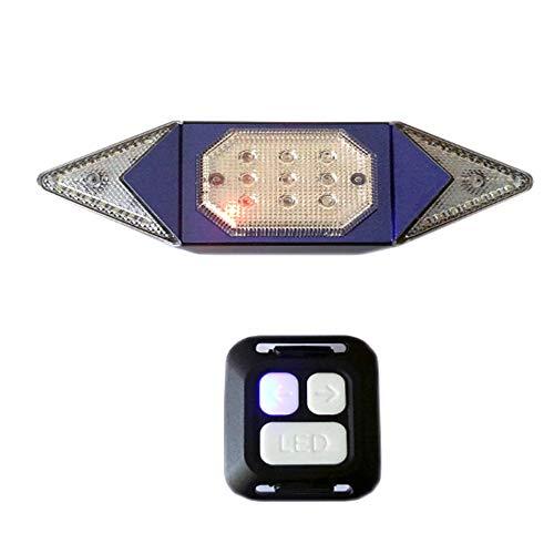 NSSTAR Fahrradrücklicht Blinker, wasserdichte LED-Rückfahrscheinwerfer Bremswarnleuchte mit Drahtloser Fernbedienung Smart USB Wiederaufladbare Fahrrad Blinker Eingestellt