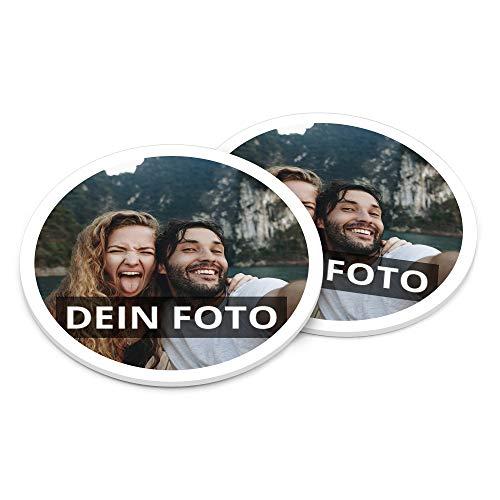 PhotoFancy® – Bierdeckel mit Foto personalisiert - Personalisierbare Bierdeckel Bedrucken (Plastik, 6er Set)
