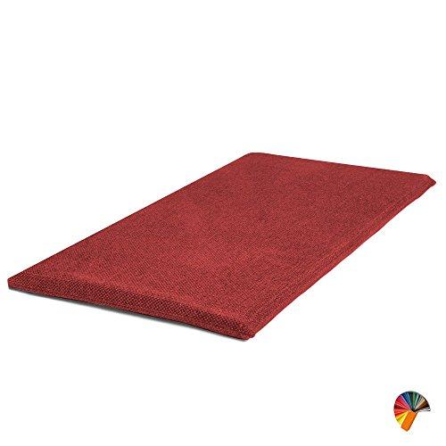 SET de x2 Coussin Assise Banquette Banc et Chaise Fait a la Main decoration fauteuil couverture de Banquets canapé en Poly Coton facile à laver à la main et la machine Coussin Rectangulaire Rouge 30x80x3 cm
