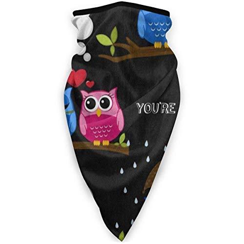 Cache-Cou Masque Respirant Respirant Coupe-Vent Love You Owl Tree Umbrella Neck Warmerpour Les Marques Anti-Poussières Extérieures