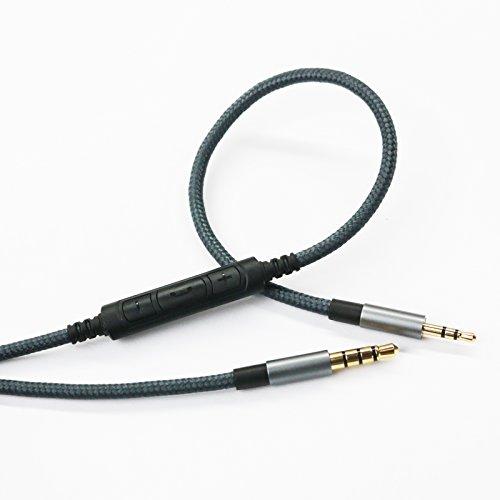 Cavo di ricambio audio maschio da 3,5 mm a 2,5 mm, compatibile con cuffie Bose oe2, oe2i, AE2, QC35, telecomando del volume e cavo microfono in linea compatibile con Samsung Galaxy Huawei Android