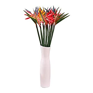 Skyseen 6PCS Bird of Paradise Artificial Flowers Strelitzia Stems for Home Office Decoration