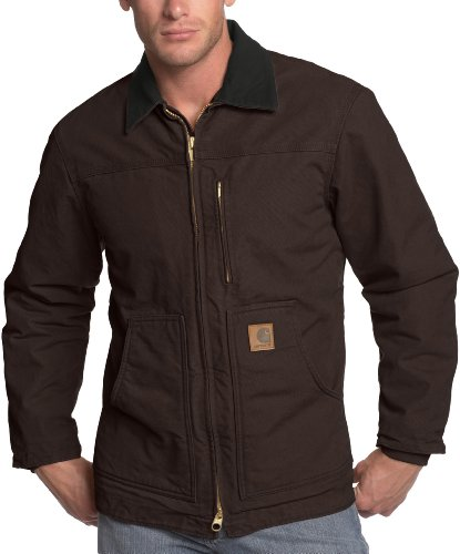 Carhartt Men's Ridge Coat Sherpa Lined Sandstone,Dark Brown,Large Tall