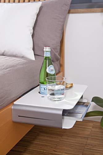 """Nachttisch """"Option"""" zum Anklemmen ans Bett Größe 40x24cm 201260201-HE"""