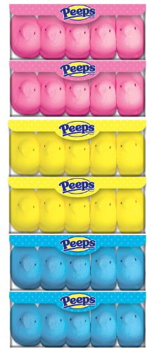 Easter Marshmallow Chicks Peeps Variety Pack 3 Ct. - 30 Chickens Total by