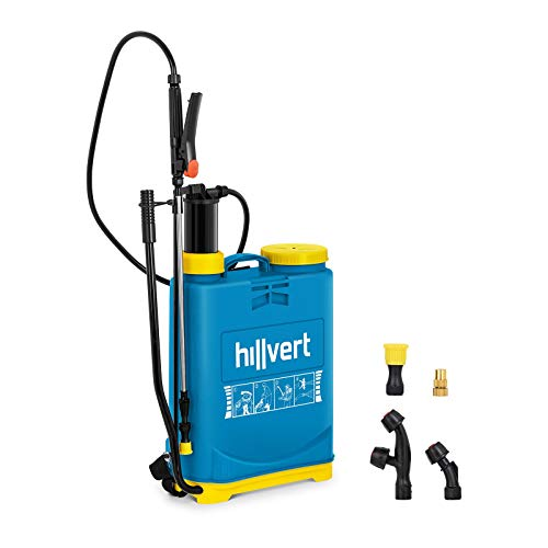 Preisvergleich Produktbild Hillvert HT-COLUMBIA-16L Drucksprüher 16 l 4, 5 bar Sprühlanze 51 cm Messing Drucksprühgerät Gartenspritze Rückenspritze Unkrautspritze
