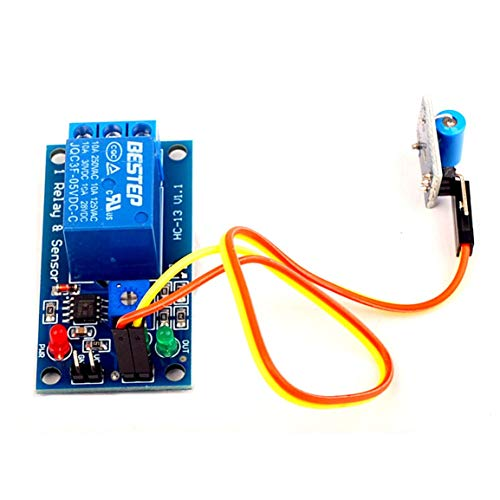 Módulo de Sensor de vibración Normalmente Cerrado de 5 V más módulo de relé Módulo 2 en 1 Módulo de activación de diseño de Alarma de regulación Inteligente