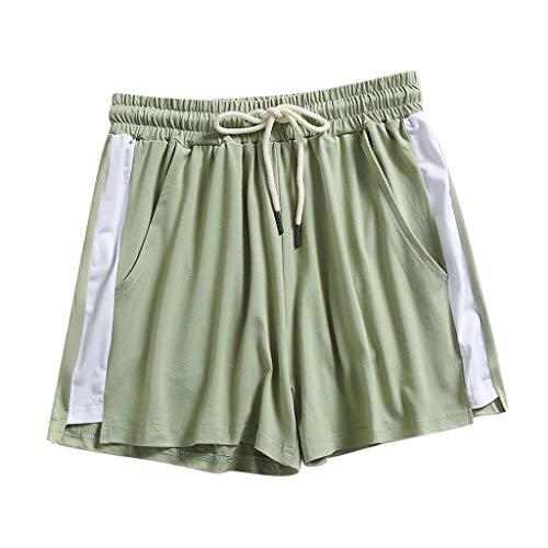Yowablo Kurze Hosen Frauen Mode Dame Sommersport Shorts Strand (M,1Grün)