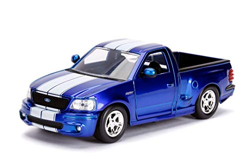 Jada 1:24 W/B - Metals - Just Trucks - 1999 Ford F-150 SVT Lightning (Candy Blue)