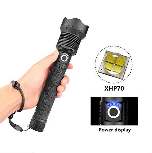 100000lm XHP70.2 Caza Más Potente Linterna Led USB Antorcha Lámpara De Cabeza Xhp70 Xhp50 26650 O 18650 Luz De Flash Recargable