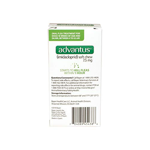 Advantus (Imidacloprid) 7-Count Flea Chews for Small Dogs