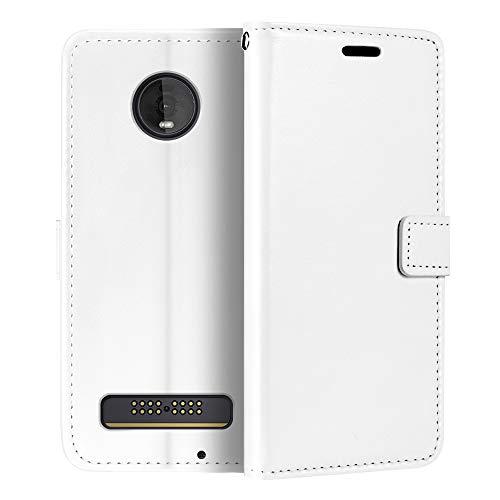 Capa carteira para Motorola Moto Z4 Play, capa flip magnética de couro sintético premium com suporte para cartão e suporte para Motorola Moto Z4 Play