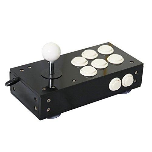 Mini USB Arcade Joystick for PC Game All Black PC Controller Computer Game Portable Joystick Consoles Gift