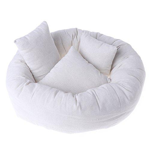 Newborn Baby Photography Posing Pillow Filler Photo Prop (1pc Donut + 3pcs Pillow, Basket not Included)