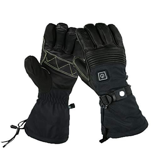 HKYMBM Elektrische Beheizte Handschuhe/Batterie Selbst Heizung Touch-Screen-Wasserdicht 8 Stunden Dauer Fever Skihandschuh,L