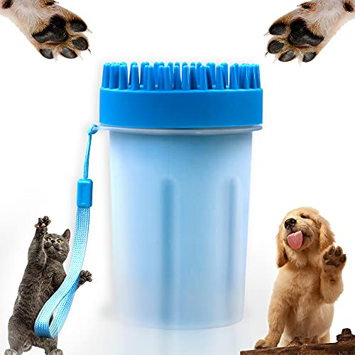 LASOCKETS 2 in 1 Portable Dog Paw Washer Dog Cleaning Brush Cat Dog Foot Cleaner Cup