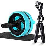 RUIMA Ab Roller Wheel Abs Bauch und Bauch Übung Training mit Knieschützer-Best Core & Abs Training für Home & Outdoor (Color : Blue)