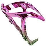 Portabotellas de agua para bicicleta de la marca Facibom, ligero, ajustable, para bicicleta de montaña, bicicleta de carretera, para niños, color rosa y verde degradado