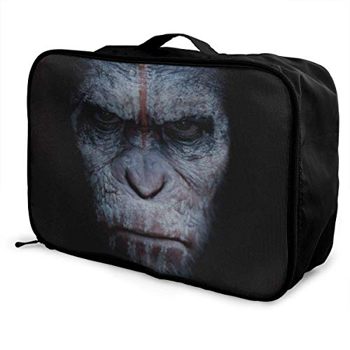 Dawn of Planet of Apes Reise Lage Reisetasche Leichter Koffer Tragbare Taschen für Frauen Männer Kinder Wasserdicht Große Bapa Caity