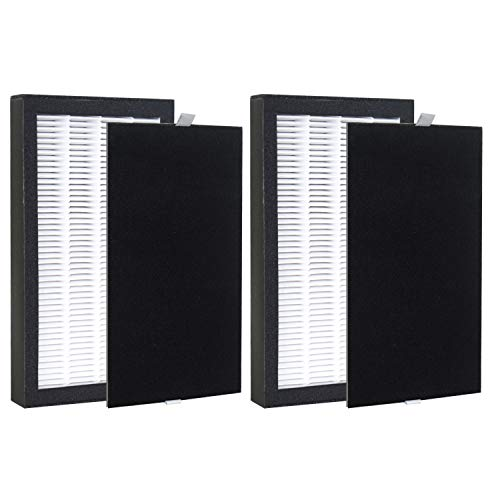 """GHM 2 Pack True Hepa Filter """"E""""Compatible with GermGuardian AC4100 Home Air Purifiers AC4100CA / AC4150BL,Replacement FLT4100 Filter E"""