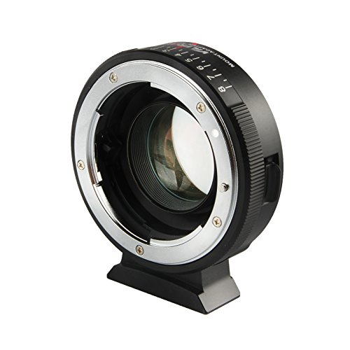 NF-M43X Focal Reducer Speed Booster 0.71X Lens Mount Adapter for Nikon G&D Mount Lens to M4/3 Mirrorless Camera with Manual Focus, Infinity Focus and 8 Adjustable Aperture