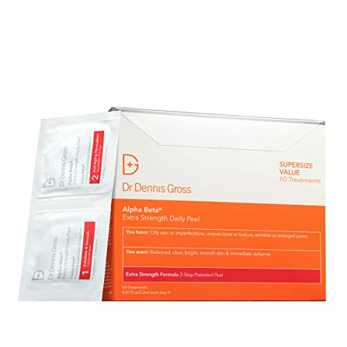 Dr. Dennis Gross Alpha Beta Extra Strength Daily Peel: for Oily Skin, Uneven Tone or Texture, Wrinkles or Enlarged Pores (60 Treatments)
