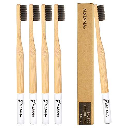 Matana - 5 Stück Premium Bambus Zahnbürsten - Biologisch Abbaubar
