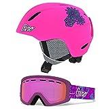 Giro Launch Kids Snow Helmet Goggle Combo Matte Bright Pink/Psych Blossom Flash SM (52-55.5CM) Helmet 7104865 Goggle 7094683