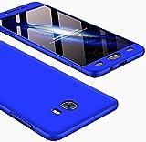 IMEIKONST Samsung C9 Pro Funda 3 in 1 Ultra Slim Design PC Hard Cubierta 360 Grados Protección Anti-Shock Anti-Scratch Caso Cover Carcasa para Samsung Galaxy C9 Pro. 3 in 1 Blue AR