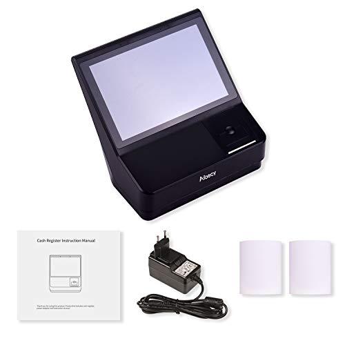 Walory Caja Registradora, 10.1 pulgadas Pantalla táctil TPV Caja registradora con sistema de punto de venta Impresora de recibos de 58 mm Soporte WiFi Conexión BT Sistema multilingüe para supermer