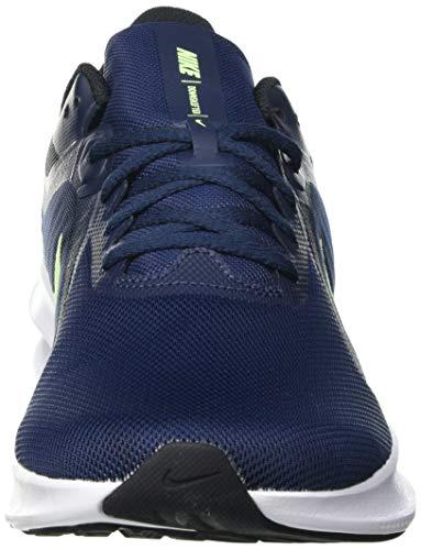 Nike Downshifter 10, Running Shoe Hombre, Obsidian/Lime Glow-Black, 42 EU