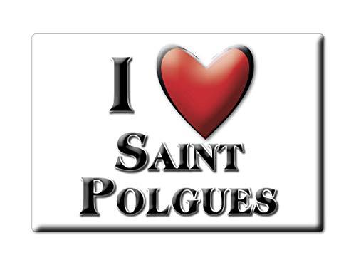 Enjoymagnets Saint POLGUES (42) Souvenir IMANES DE Nevera Francia Bretagne IMAN Fridge Magnet Corazon I Love