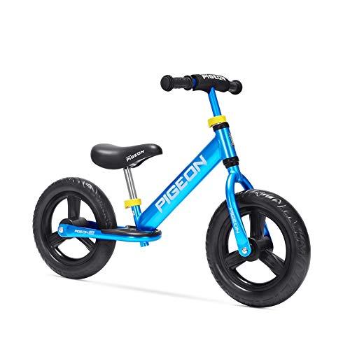 FINLR Biciclette for Bambini Balance Bike Ruote da 12 Pollici Lega di Alluminio Senza Pedale Bicicletta da Passeggio for Bambini E Ragazzi di 2-6 Anni ( Color : Blue )