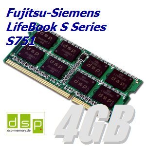 4GB Speicher/RAM für Fujitsu-Siemens LifeBook S Series S751