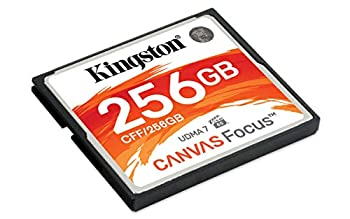 Kingston CF Canvas Focus Compact Flash Memory Card 256GB High Performance for DSLR and Professional Photography Cameras  CFF/256GB