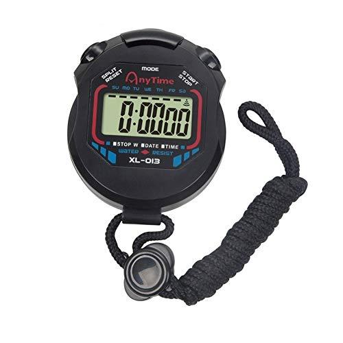 periwinkLuQ Digitale Professionele Handheld LCD Chronograaf Waterbestendige Stop Horloge Waterdichte Sport Stopwatch Timer met Alarm Feature voor Sport Coaches Fitness Coaches en scheidsrechters