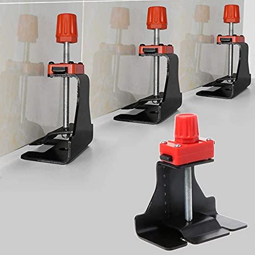 DROHOO posicionador nivelador de Ajuste de Altura de baldosa nivelador localizador de regulador Manual Herramienta de construcción de cerámica, Negro con Rojo