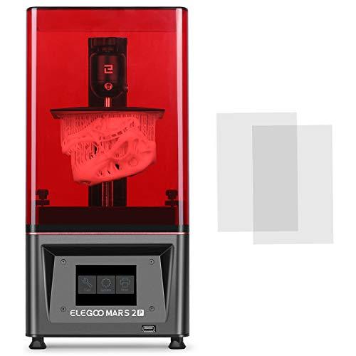 ELEGOO Mars 2 Pro Mono MSLA 3D Drucker UV Lichthärtungs LCD Harz 3D Drucker mit 6 Zoll 2K Monochrom LCD, Druckgröße 129 x 80 x 160 mm / 5,1 x 3,1 x 6,3 Zoll
