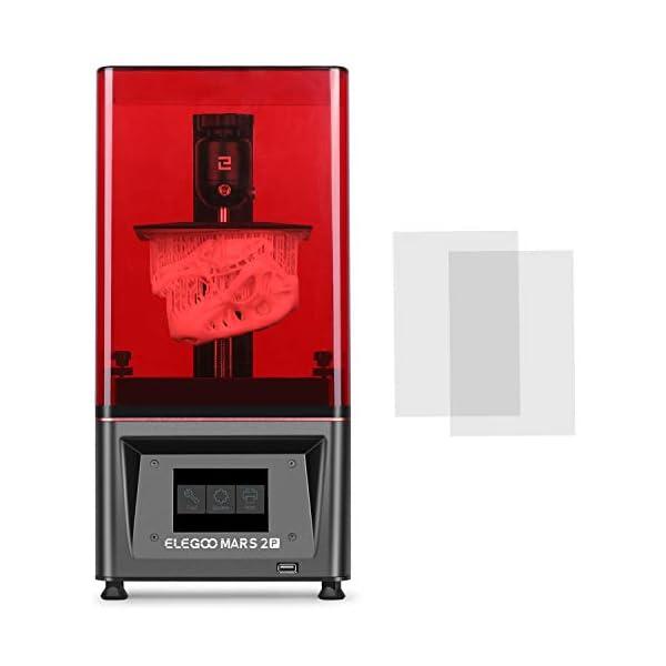 ELEGOO Mars 2 Pro Mono MSLA 3D Printer UV Photocuring LCD Resin 3D Printer with 6.08...