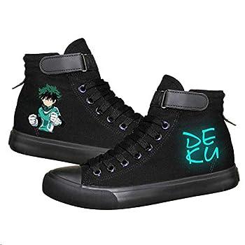 My Hero Academia Izuku Midoriya Katsuki Bakugo Shoto Todoroki Cosplay Shoes Canvas Shoes Luminous Sneakers