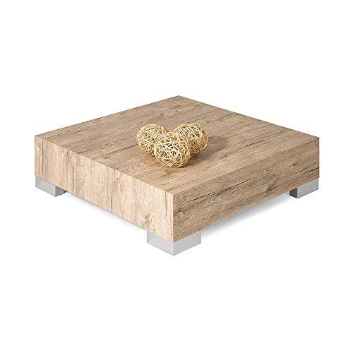 Mobili Fiver, iCube 60 Table de Salon Chêne Naturel, 60 x 60 x 18 cm