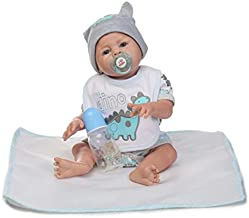TERABITHIA 20inch Real Life Full Body Silicone Reborn Baby Boy Dolls,A Moment in My Arms, Forever in My Heart