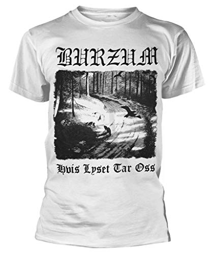 Burzum 'Hvis Lyset Tar OSS' (White) T-Shirt (XX-Large)