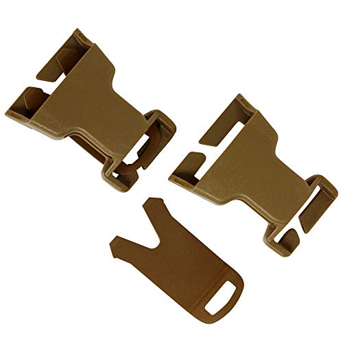 Condor Outdoor VAS QD BUCKLES BLACK Coyote (SET of 2)(221161-498)