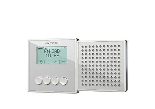 Ubisound portables Steckdosenradio DAB + Digitalradio UKW Radio weiß
