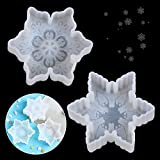 Big Snowflake Silicone Mold, 2 Pieces 3D Silicone Christmas Molds, Snowflake Star Shape Epoxy Resin Silicone Mold, Crafting Clay Molds,Jewelry Earrings Making, Winter Ornament DIY