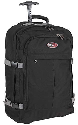 CABIN GO MAX 5530 Trolley Leichter Handgepäck- / Reiserucksack mit Rädern und einziehbaren Schultergurten, Koffer Kabinentasche 55x40x20 cm 44 Liter. IATA / EasyJet / Ryanair Flug genehmigt