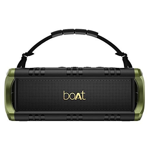 boAt Stone 1400 Mini 18W Bluetooth Speaker(Army Green)