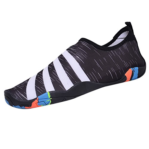 Sharplace Chaussures Natation Unisexe Chaussures de Plage Plongée Anti-Dérapant - Noir, 44